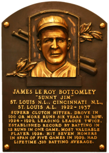 Bottomley was elected to the National Baseball Hall of Fame by the Veterans Committee in 1974